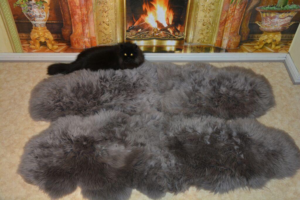 pelzdecken discount lammfell teppich grau. Black Bedroom Furniture Sets. Home Design Ideas