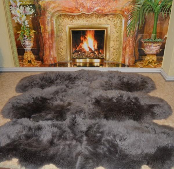pelzdecken discount fellteppich grau. Black Bedroom Furniture Sets. Home Design Ideas